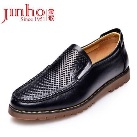 金猴皮鞋 夏季新款 真皮牛皮防滑男士凉鞋 时尚镂空男凉鞋Q30013A/B