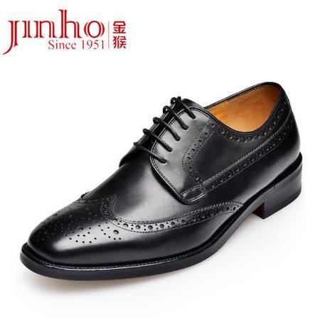 Jinho/金猴新品英伦时尚布洛克鞋 头层牛皮真皮男单鞋 透气男皮鞋Q20011A/B