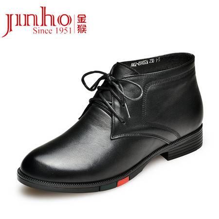 金猴 Jinho 真皮保暖女士秋冬舒适系带女踝靴 Q59052A/B/C