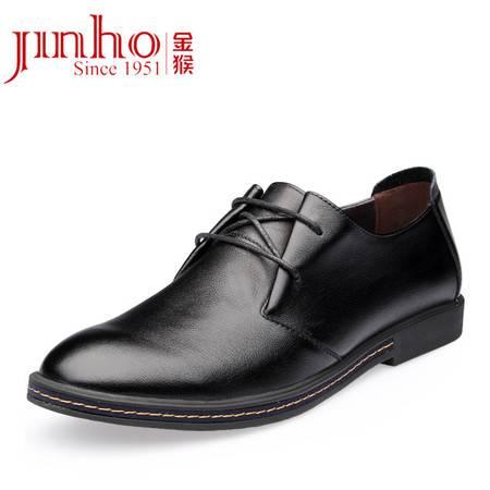 金猴 Jinho 软皮轻便舒适 商务休闲 男单鞋 Q29117A /B/C