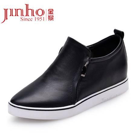 金猴 Jinho 秋季时尚热卖韩版 真皮牛皮休闲皮鞋女单鞋Q59051A/C/D
