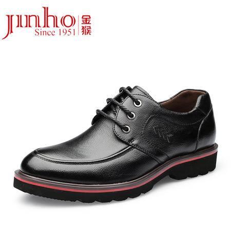 Jinho/金猴秋季新品 真皮牛皮正品男士皮鞋 商务休闲时尚男单鞋Q29123A
