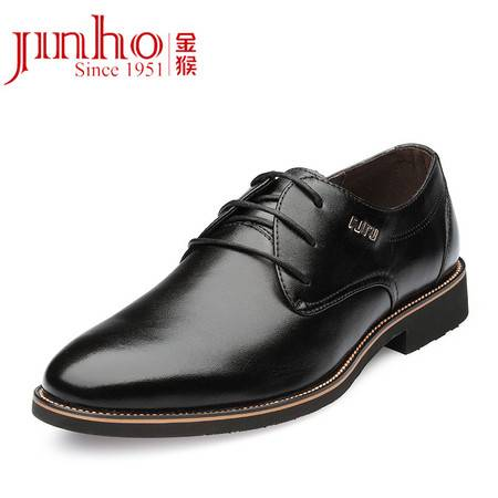金猴 Jinho  商务休闲男士皮鞋 牛皮透气耐磨系带男单鞋Q29134A/B