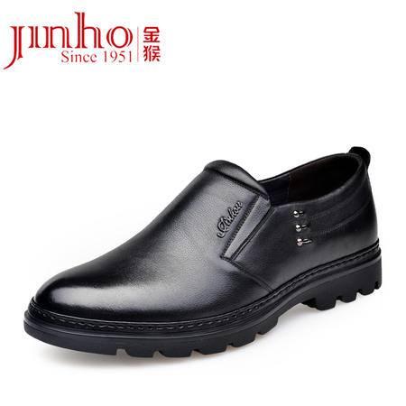 金猴 Jinho 2015秋季新款 真皮休闲正装 时尚热卖耐磨轻便男单鞋 Q29133/B