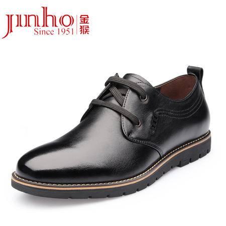 Jinho金猴2015正品休闲男鞋系带单鞋 秋冬季新款真皮皮鞋鞋子Q20021A/Q20021B