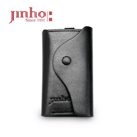金猴jinho 头层牛皮钥匙包 男女通用韩版 防磁软皮15P019W