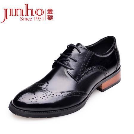 金猴 Jinho 2015热卖新款 时尚舒适英伦范新潮布洛克男鞋 Q29111A/B