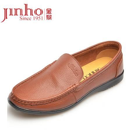 金猴 Jinho春秋新款简约柔软舒适 商务正装 套脚男单鞋Q29007