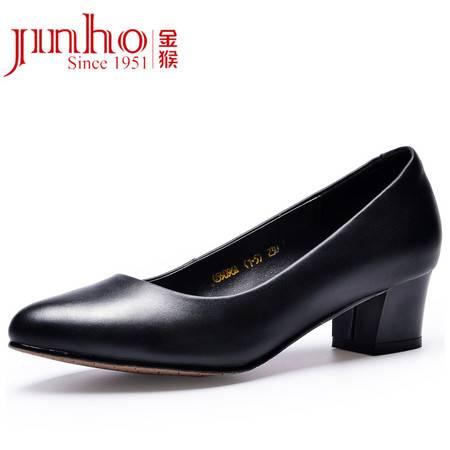 金猴 Jinho新品上市时尚浅口中跟女单鞋通勤舒适显瘦女鞋Q59096A/59096C