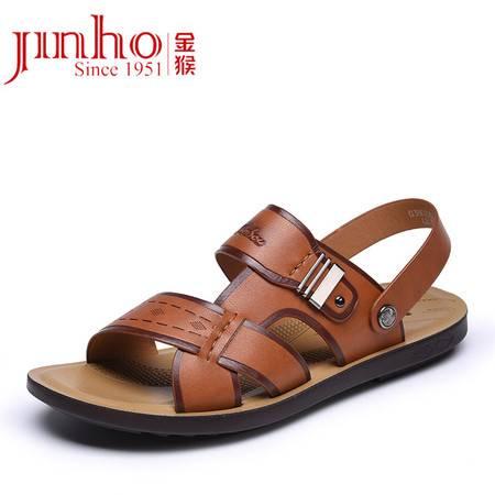 金猴男鞋 新款露趾凉鞋 夏季男士凉拖两用沙滩鞋 Q38022C