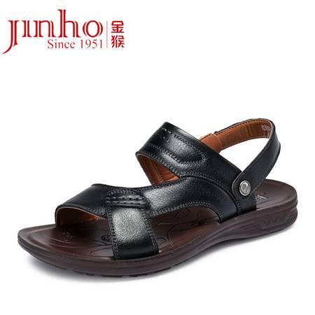 金猴 Jinho 夏季新款男士两用透气凉鞋沙滩鞋 露趾凉拖休闲鞋 Q38021A