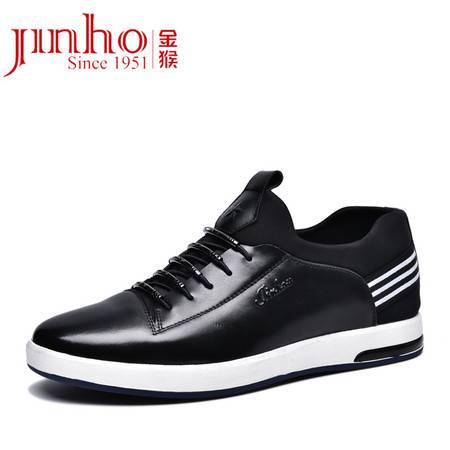 金猴休闲鞋 春秋新款男士真皮透气时尚休闲皮鞋运动休闲鞋男鞋Q29165A