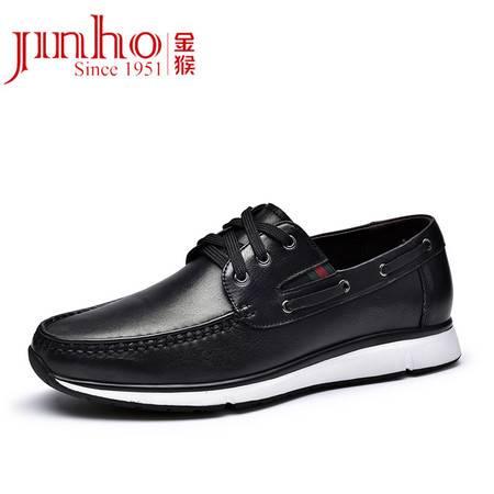 金猴 Jinho 时尚舒适男士系带牛皮休闲鞋 男士低帮皮鞋 Q20027A