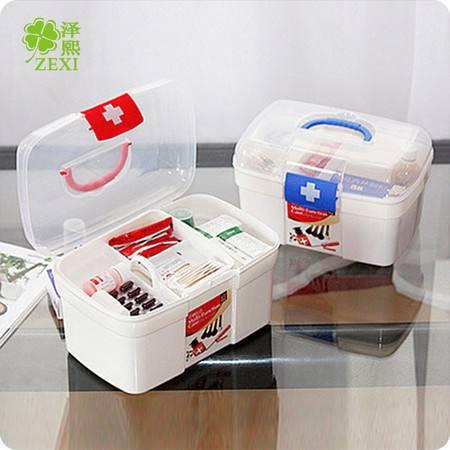 QDH 多层急救箱 家用塑料药箱 药品收纳箱