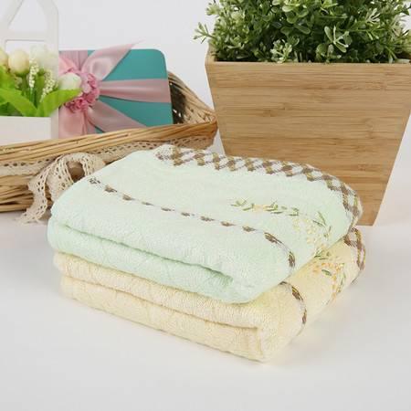 竹派 竹纤维毛巾礼盒 大绣花毛巾两条迷你盒装 送礼 自用上等佳品