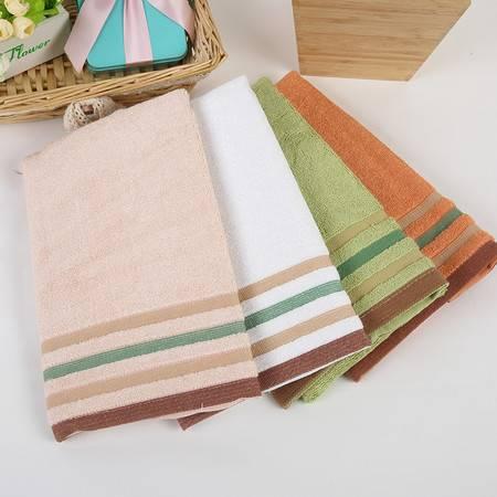 竹派 竹纤维毛巾 加厚条纹清新竹纤维方巾 吸水吸汗 防臭除菌