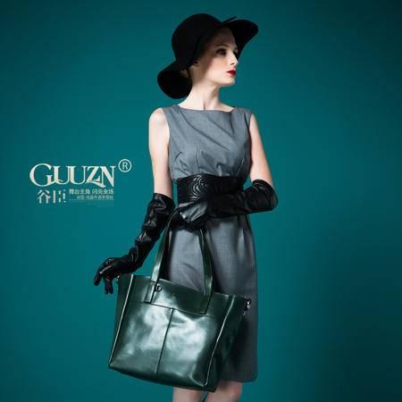 欧美时尚纯色牛皮奢华气质单肩斜跨手提包手拎女包包GC