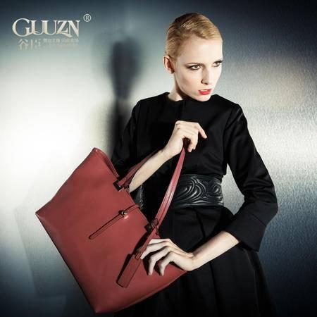 欧美时尚休闲街头横款方形纯色女包包单肩手提包袋GC