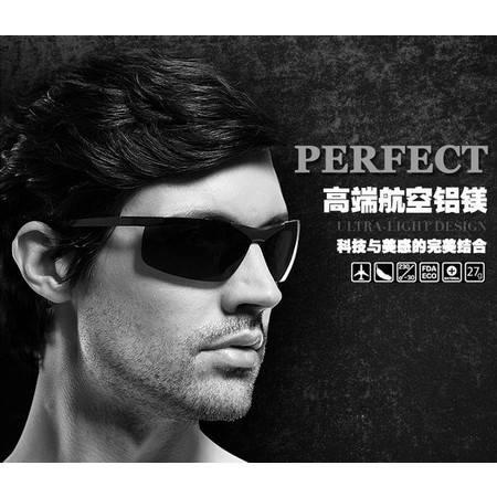 太阳镜 男士偏光太阳眼镜 时尚铝镁司机驾驶镜 墨镜眼镜