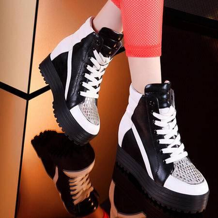 moolecole/莫蕾蔻蕾 新款优雅女鞋 水钻内增高鞋时尚女鞋包邮