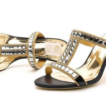 火热夏季爆款优雅闪亮水钻凉拖鞋时尚女鞋包邮