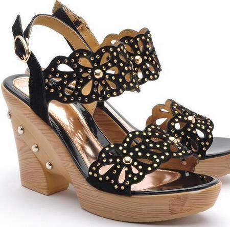 moolecole/莫蕾蔻蕾 夏季凉鞋牛皮罗马粗跟水钻套趾高跟女鞋