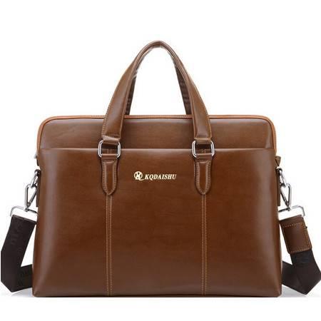 新款男士手提公文包商务包14寸电脑包时尚单肩包斜款包专注男士精品商务男包 奢华体验 不一般品质 全场
