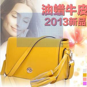 韩国潮流苏真皮女包包 女士牛皮单肩包源自欧美设计师 时尚包邮