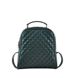休闲时尚学院风牛皮背包菱格双肩包源自欧美设计师 时尚包邮