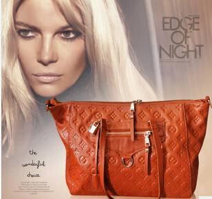 新款韩版 单肩斜挎大包 牛皮女包包真皮女包源自欧美设计师 时尚包邮