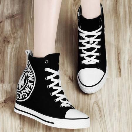 古奇天伦 女靴新款马丁靴女平底坡跟女短靴学院风祼靴秋季女  正品包邮