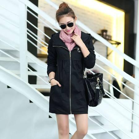 女装新款秋装外套中长款休闲风衣外套 时尚包邮