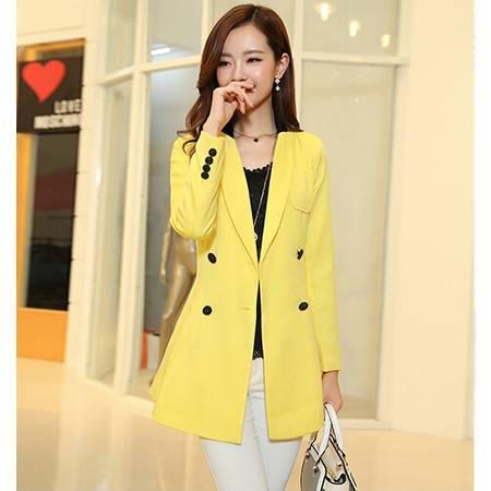 秋季时尚新款薄款外套西装女性气质高档韩版大翻领女装