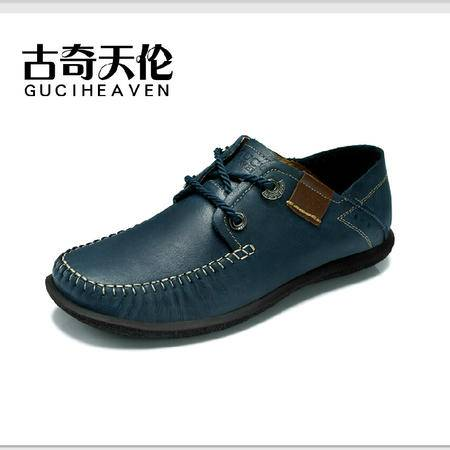 古奇天伦 头层牛皮男鞋 日常休闲低帮鞋 拼色鞋子