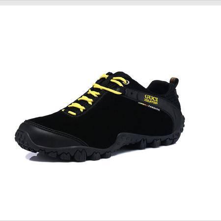 古奇天伦 正品登山运动户外鞋男士休闲鞋低帮男鞋系带真皮板鞋