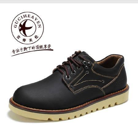 古奇天伦 潮鞋男休闲工装大头鞋流行鞋子英伦皮鞋潮流男鞋