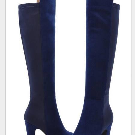 莫蕾蔻蕾 秋冬新款修腿女靴子长靴高筒靴过膝靴高跟女鞋