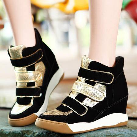 莫蕾蔻蕾 秋冬新款休闲内增高女鞋运动高帮鞋高跟鞋子