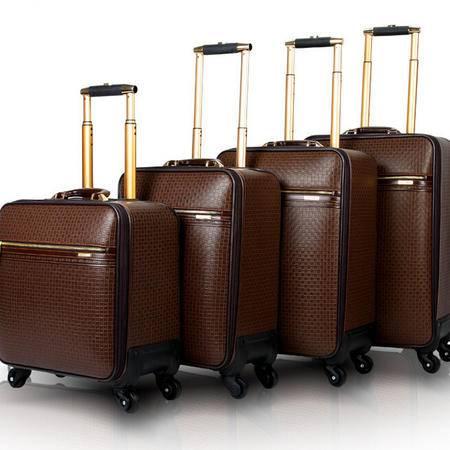时尚拉杆箱新款万向轮旅行箱男 商务啡色登机箱新潮女行李箱