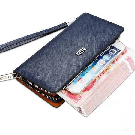 男士手包商务手拿包手腕包长款钱包男拉链皮夹正品男包手机包