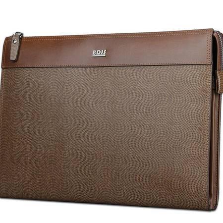 商务男手拿包男士牛皮ipad手拿包手腕包平板电脑包大容量