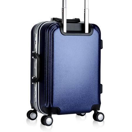 铝框拉杆箱万向轮24寸 女士旅行箱包磨砂20寸行李箱硬箱子男