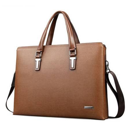 横款男手提包商务公文包 大容量牛皮高档男士皮包奢侈品男包