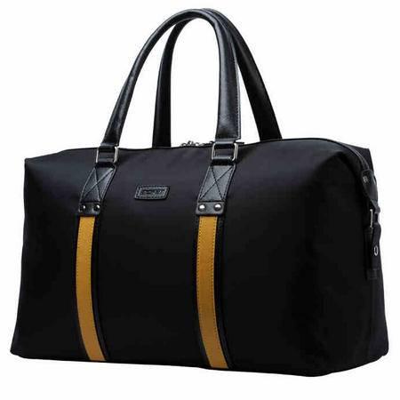 男士手提旅行包大容量 短途商务出差行李包撞色