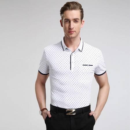 2015新款男士短袖t恤 商务男装时尚男式T恤衫 纯棉男t恤