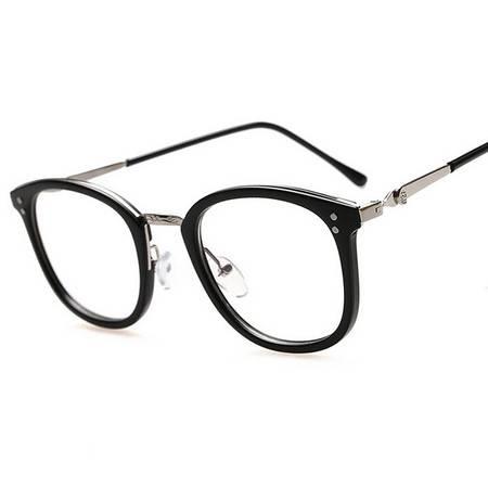 男女款防辐射抗疲劳护目镜平光装饰上网眼镜复古眼镜框架
