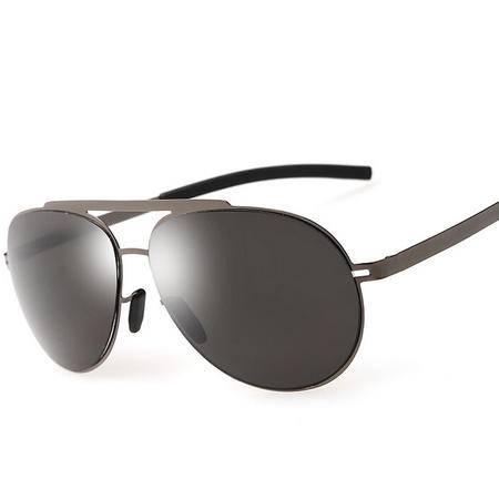 男新款偏光太阳眼镜经典驾驶蛤蟆镜不锈钢超弹墨镜
