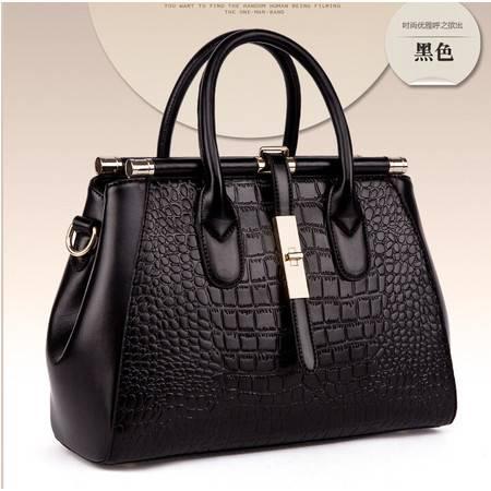 2015新款鳄鱼纹真皮女包女士包包欧美品牌手提包斜挎包