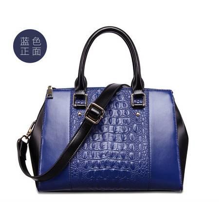 2015新款鳄鱼纹真皮女包手提包国际品牌女包包包女士