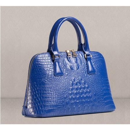 2015新款女包欧美手提包包真皮女包鳄鱼纹斜挎贝壳包